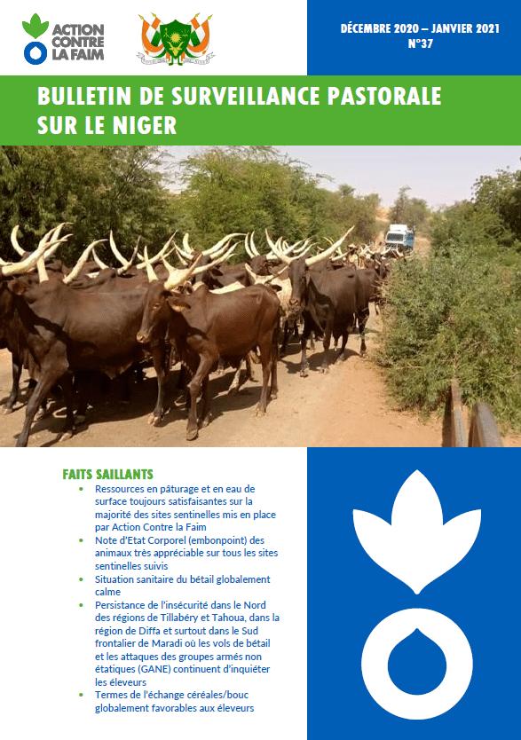 Bulletin de surveillance pastorale sur le Niger n°37 / Décembre 2020 - Janvier 2021.