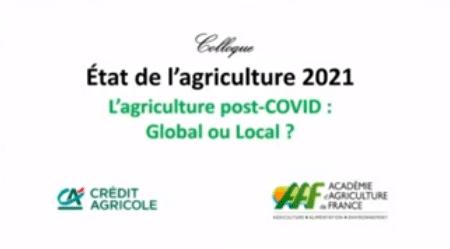 Le colloque « L'agriculture post-COVID : global ou local ? »