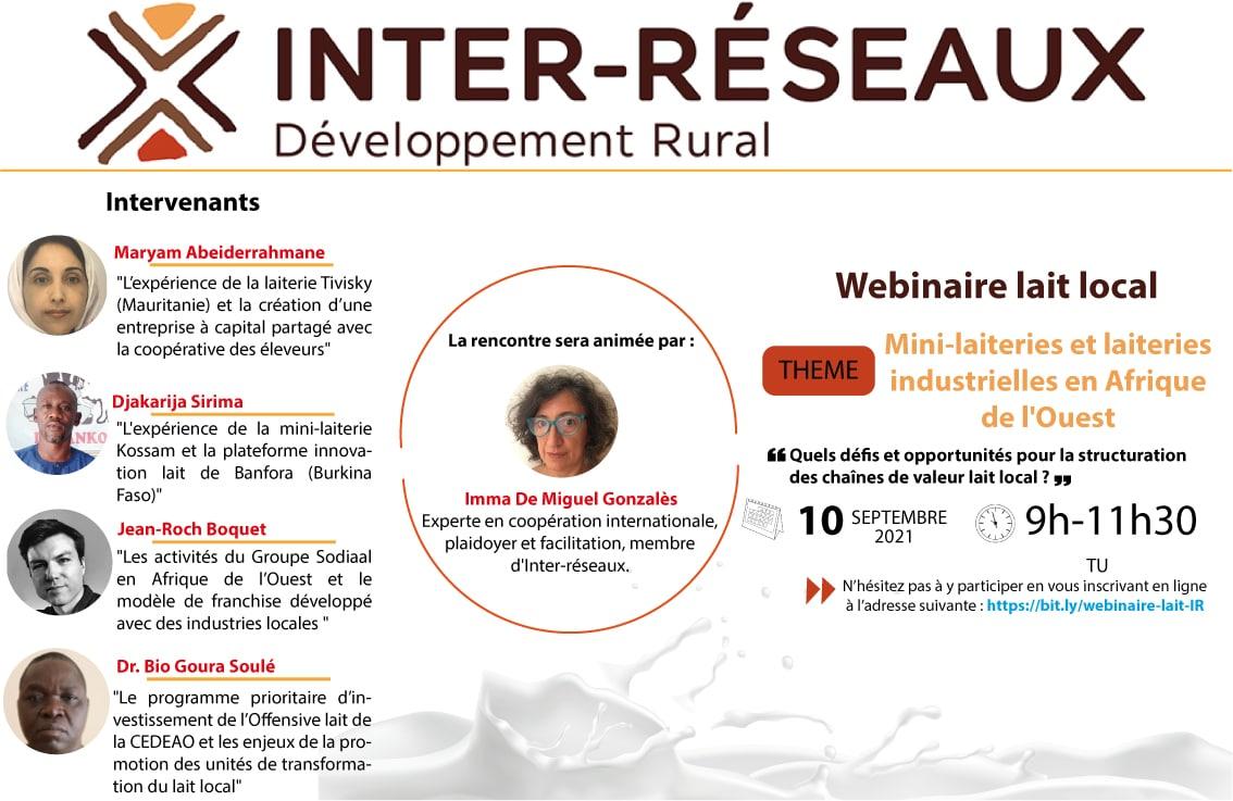 Mini-laiterie et laiteries industrielles en Afrique de l'Ouest : Quels défis et opportunités pour la structuration de des chaînes de valeur lait local ?