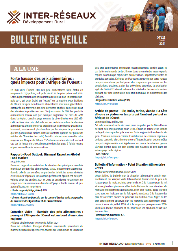 Bulletin de veille n°412