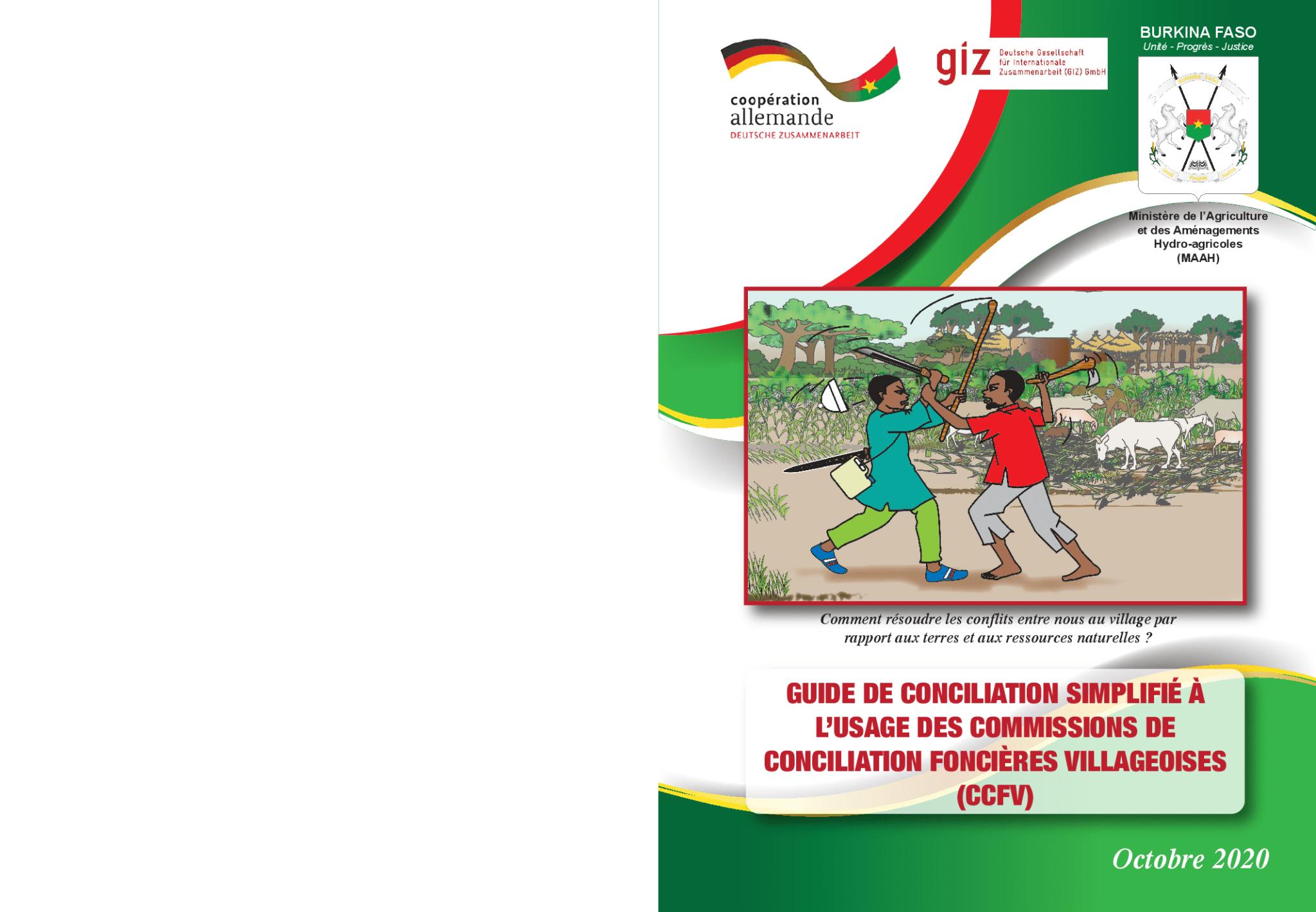  Guide de conciliation simplifié à l'usage des commissions de conciliation foncières villageoises (CCFV)
