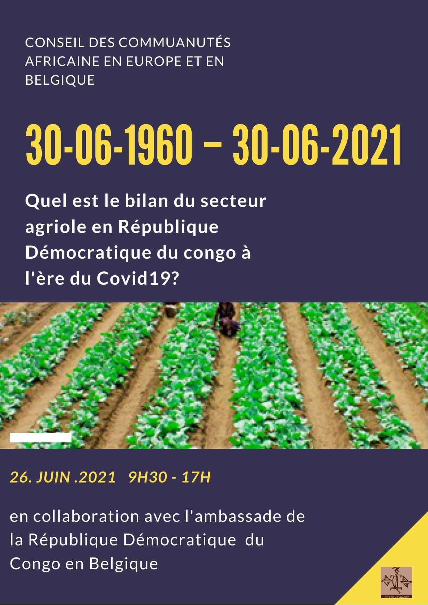 Quel est le bilan du secteur agricole en République Démocratique du Congo à l'ère du Covid-19?