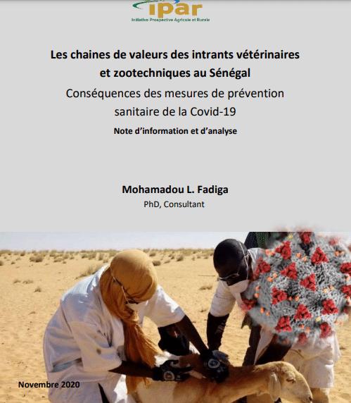 Etude - Les chaines de valeur des intrants vétérinaires et zootechniques au Sénégal : Conséquences des mesures de prévention sanitaire de la Covid-19