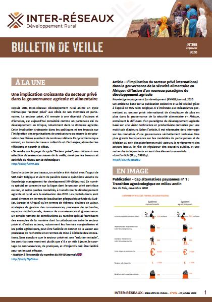 Bulletin de veille n°398
