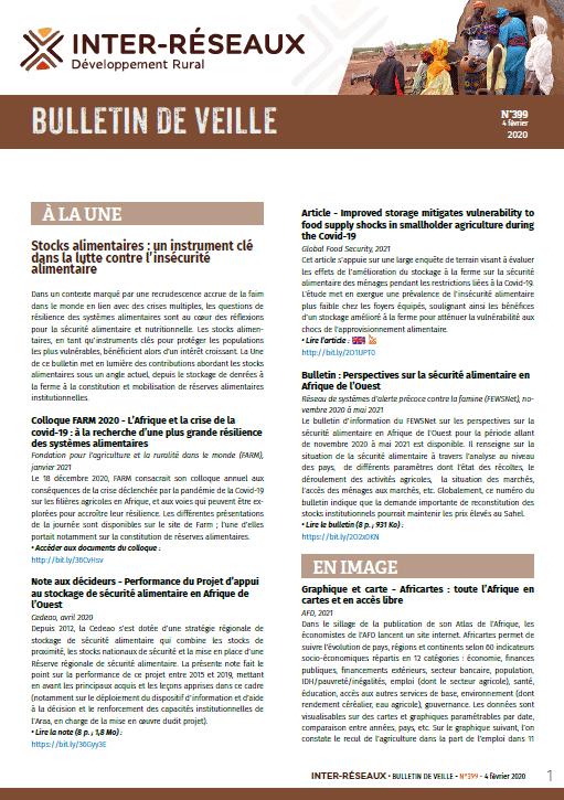 Bulletin de veille n°399