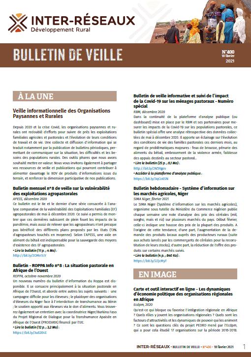 Bulletin de veille n°400