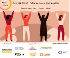Webinaire - Genre et climat : l'alliance contre les inégalités