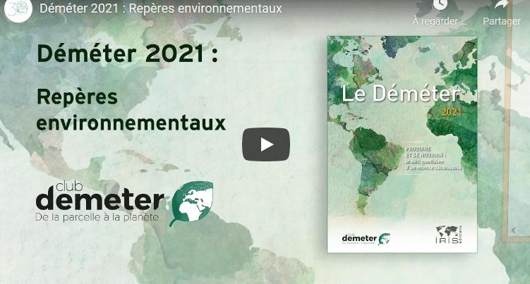 Vidéo - Déméter 2021 : Repères environnementaux