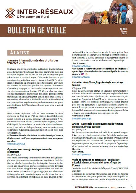 Bulletin de veille n°402
