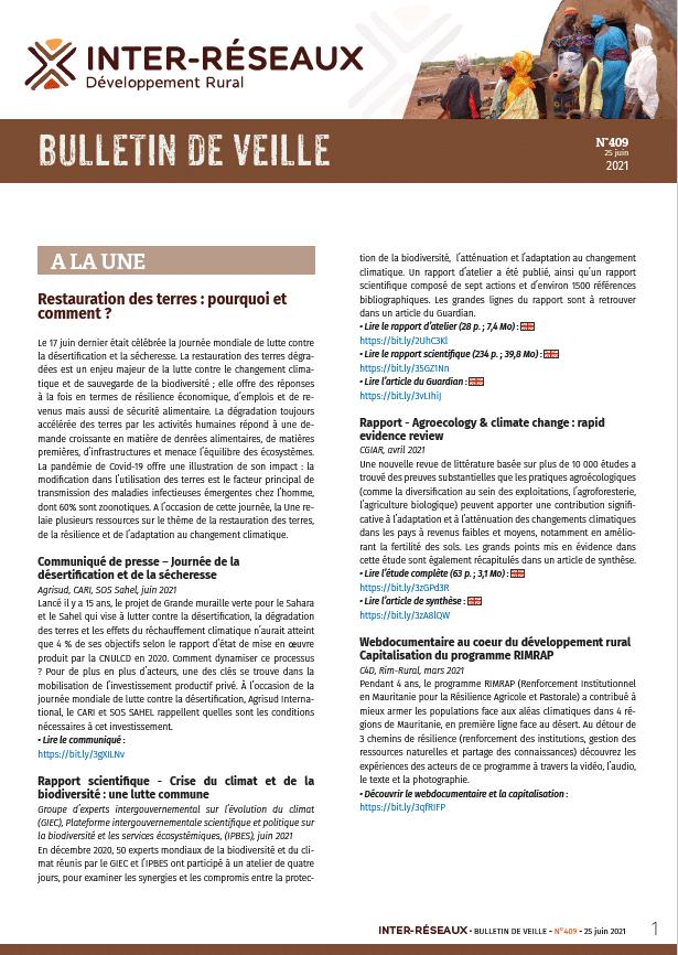 Bulletin de veille n°409