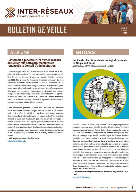 Bulletin de veille n°410