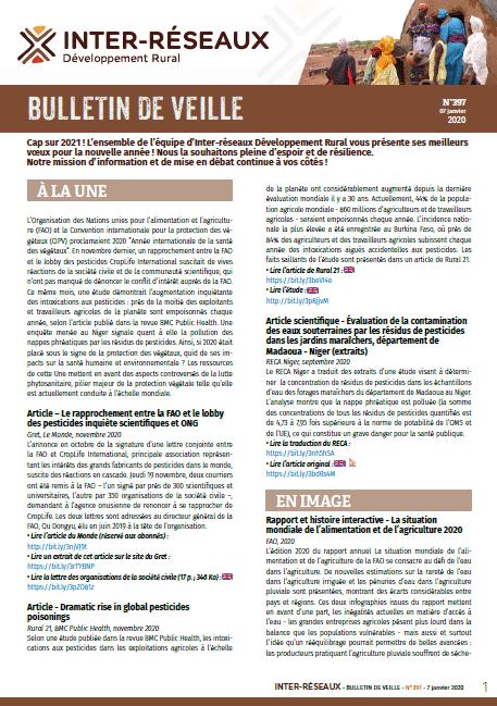 Bulletin de veille n°397