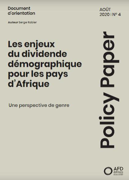 Les enjeux du dividende démographique pour les pays d'Afrique : Une perspective de genre
