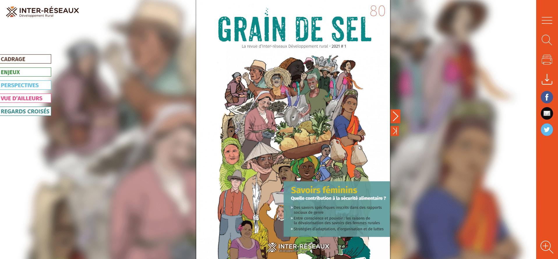 Magazine interactif : Grain de Sel n°80 sur les savoirs féminins