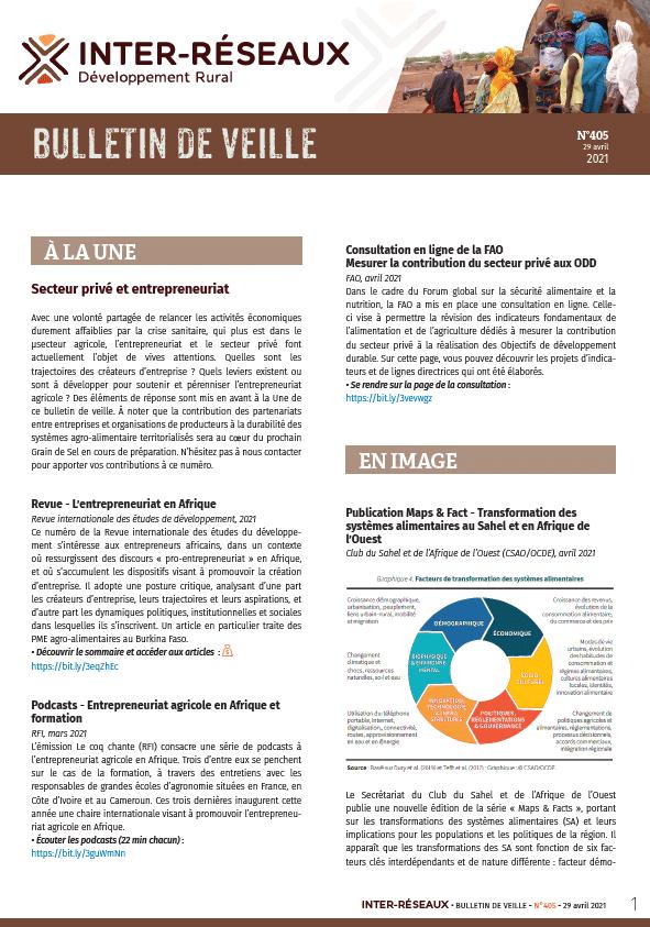 Bulletin de veille n°405