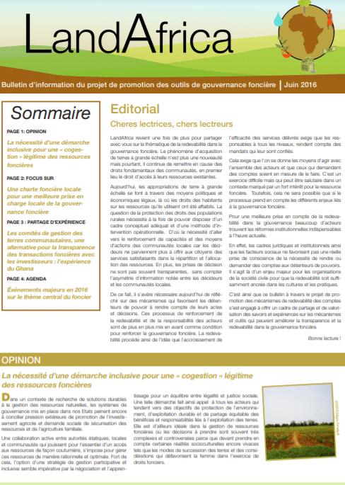 Land Africa n°3 - Bulletin d'information sur la gouvernance foncière