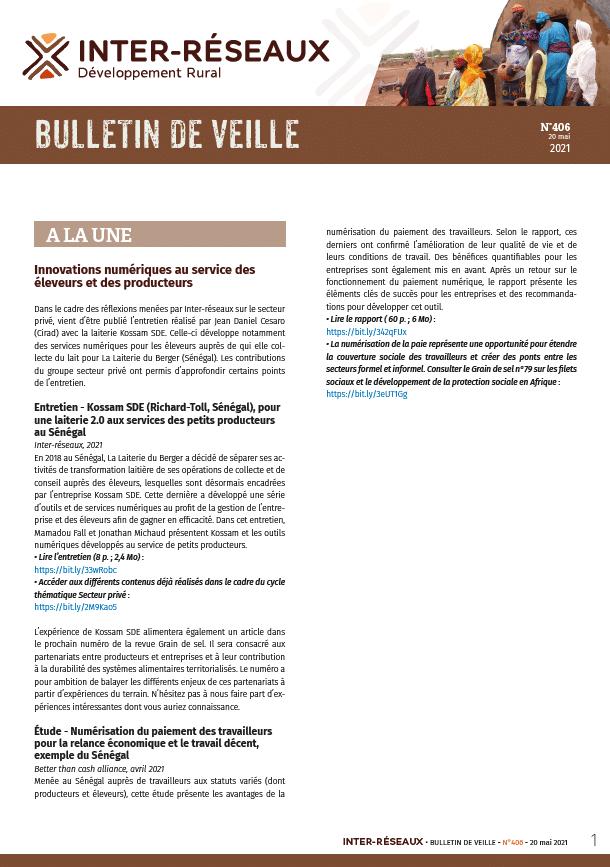 Bulletin de veille n°406