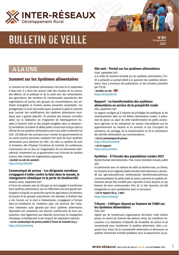 Bulletin de veille n°415