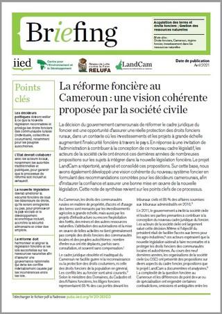 La réforme foncière au Cameroun : une vision cohérente proposée par la société civile