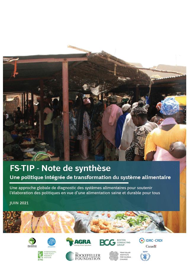 Note de synthèse : une politique intégrée de transformation du système alimentaire