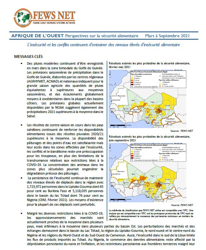 Bulletin : Perspectives sur la sécurité alimentaire en Afrique de l'Ouest