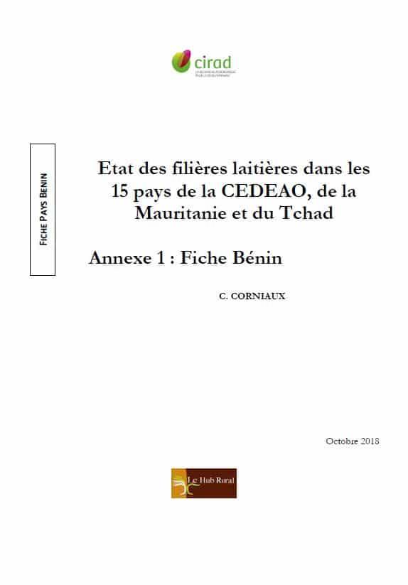 Etat des filières laitières dans les pays de la CEDEAO, de la Mauritanie et du Tchad - Fiches pays