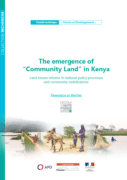 """The emergence of """"Community Land"""" in Kenya : Land tenure reforms in national policy processes and community mobilizations"""