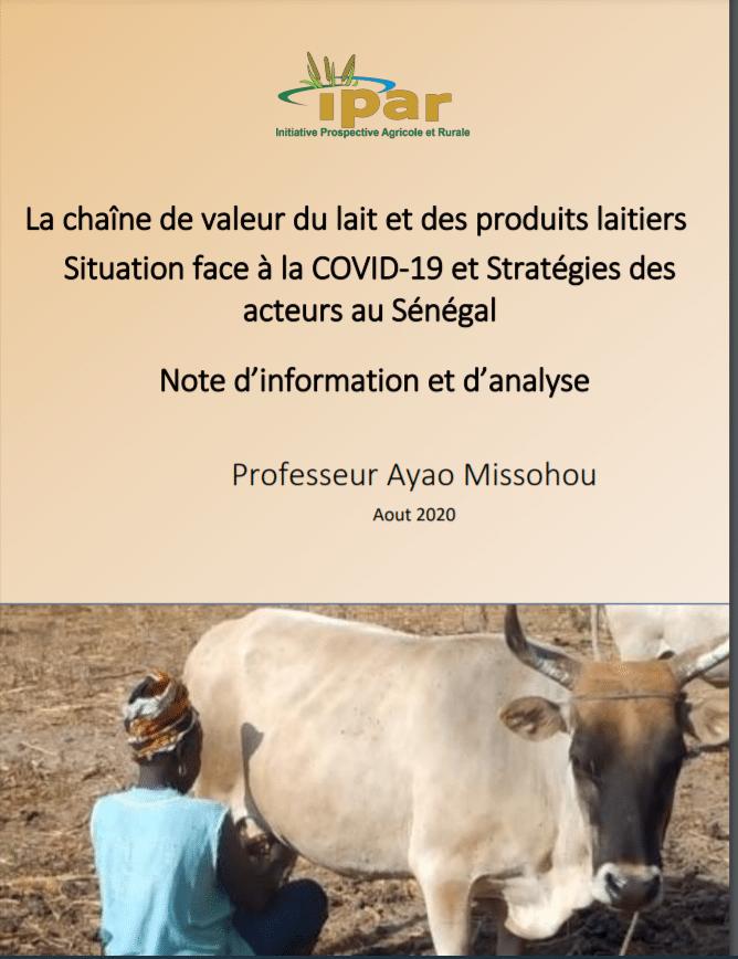 La chaîne de valeur du lait et des produits laitiers Situation face à la COVID-19