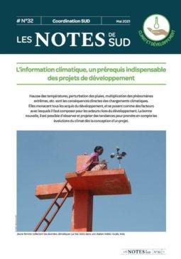 Notes de SUD n°32 - L'information climatique, un prérequis indispensable des projets de développement