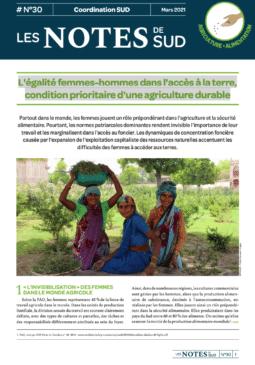 Notes de SUD N°30 - L'égalité femmes-hommes dans l'accès à la terre, condition prioritaire d'une agriculture durable