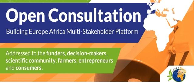 Consultation ouverte - Construire une plateforme multilatérale Europe-Afrique