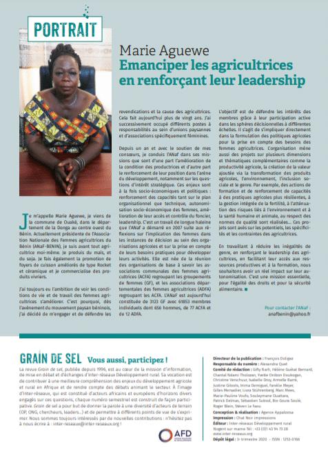 Portrait : Marie Aguewe, Emanciper les agricultrices en renforçant leur leadership
