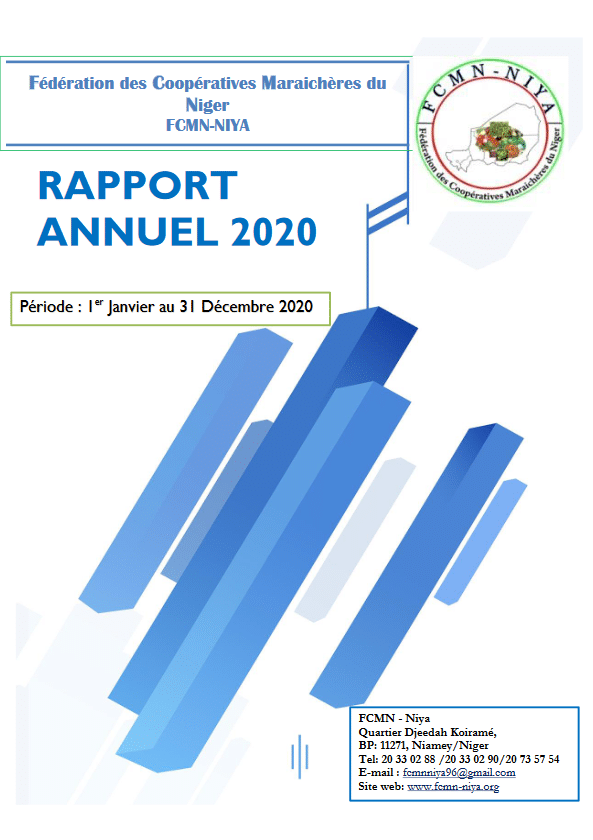 Rapport annuel 2020 de la FCMN-Niya.