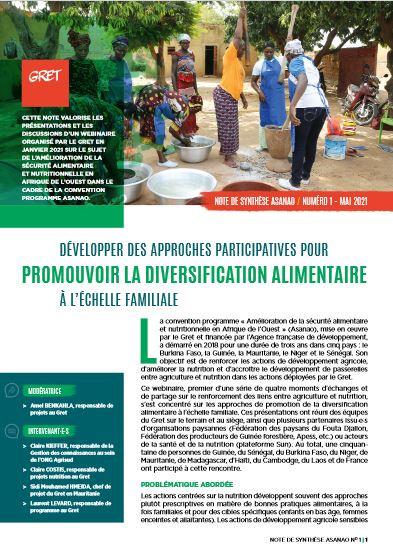Développer des approches participatives pour la diversification alimentaire à l'échelle familiale