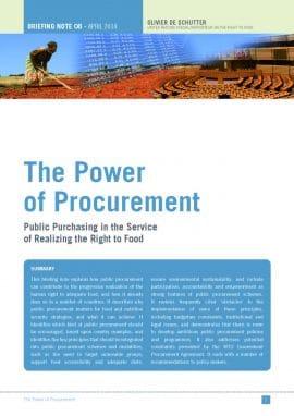 O. De Schutter : Les marchés publics peuvent 'acheter la justice' dans les systèmes alimentaires