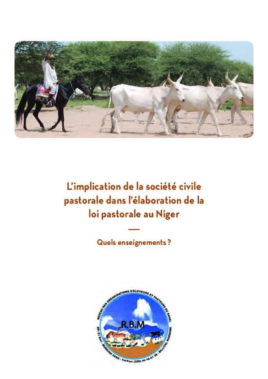 L'implication de la société civile pastorale dans l'élaboration de la loi pastorale au Niger : Quels enseignements ?