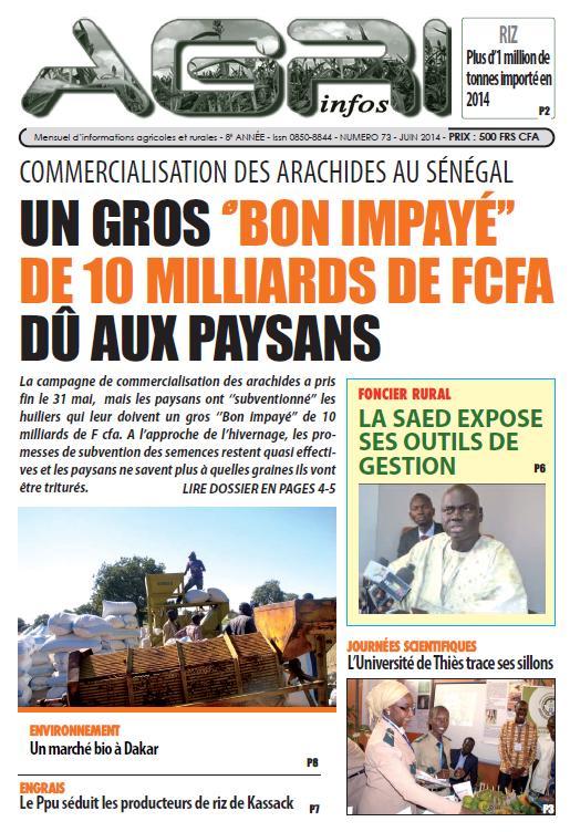 Agri Infos n°73 Juin 2014