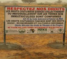 Note: La lutte contre les accaparements de terre au Mali