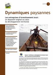 Dynamiques paysannes n°33 - Les entreprises d'investissement local (EIL) : un dispositif original au cœur du développement territorial