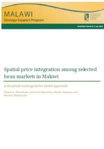 Report : Spatial price integration among selected bean markets in Malawi