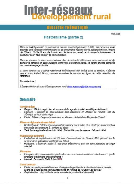 Bulletin de veille n°264 - Spécial pastoralisme 2