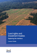 Land rights and investment treaties: exploring the interface