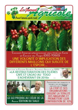 Le Journal Agricole n°24 (Togo) - Août 2015