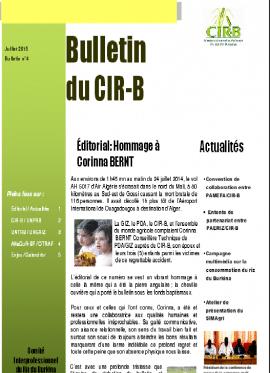 Bulletin du CIR-B n°4 - Juillet 2015