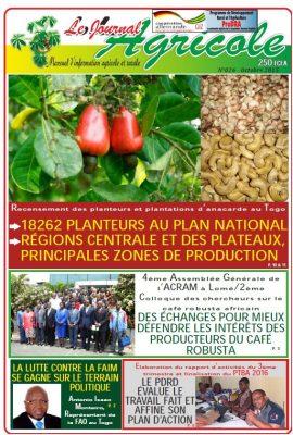 Le Journal agricole (Togo) n°26 - octobre 2015