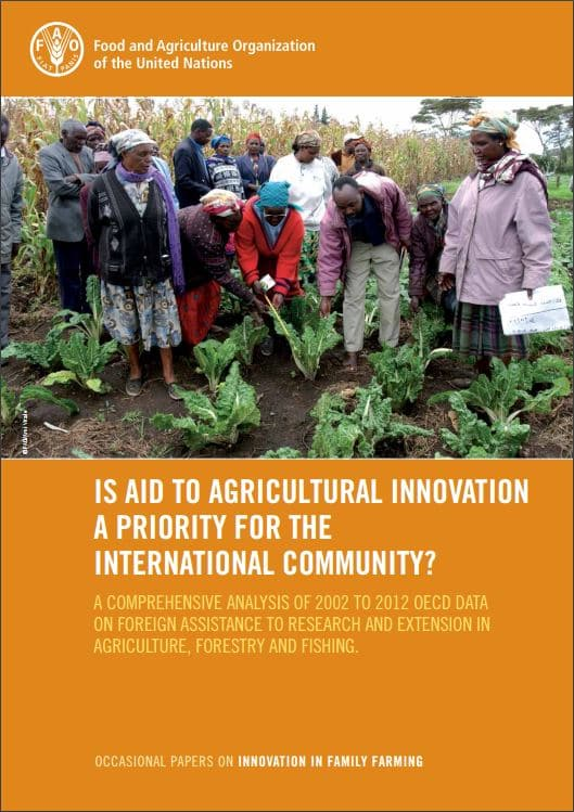 Is aid to agricultural innovation a priority for the international community?