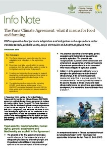 The Paris Climate Agreement: what it means for food and farming