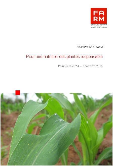 Pour une nutrition des plantes responsable