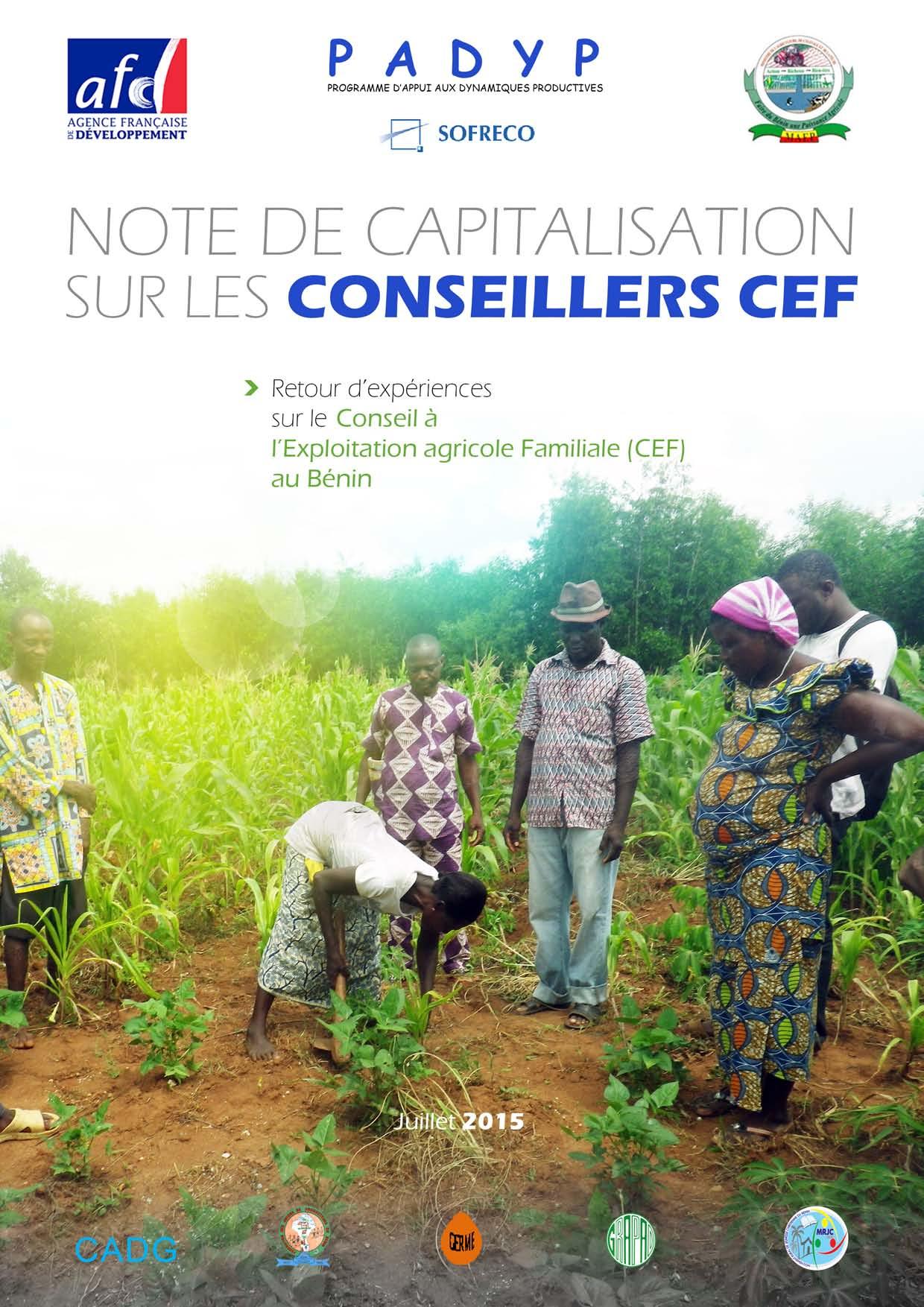 Capitalisation du PADYP sur le CEF au Bénin