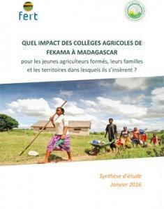 Quels impacts des collèges agricoles de Fekama à Madagascar ?